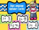 Sign Language Alphabet Cards!