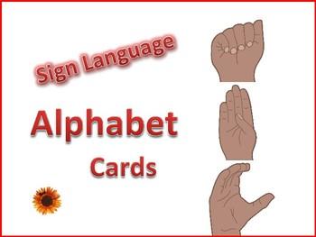 Sign Language Alphabet Cards