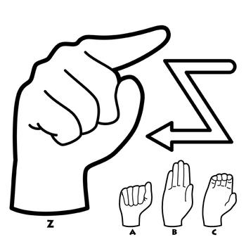 Sign Language Alphabet Clip Art