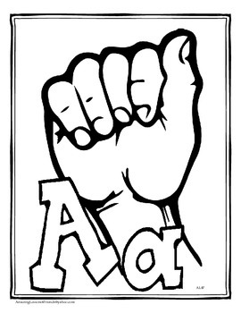 Sign Language Alphabet Coloring Sheets
