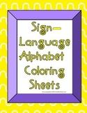 Sign Language Alphabet Coloring Sheets