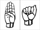 Sign Language Alphabet Flash Cards