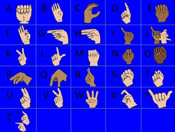 Sign Language Alphabet Clip Art Plus American Sign Language ASL