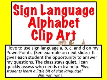 Sign Language Alphabet Clip Art Plus American Sign Language ASL