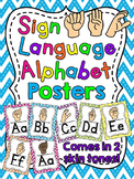 Sign Language Alphabet Posters