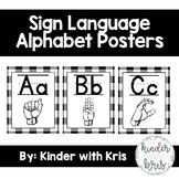 Farmhouse Sign Language Alphabet Posters