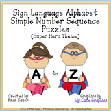 Sign Language Alphabet Simple Sequencing Puzzles