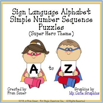 Sign Language Alphabet Simple Sequencing Puzzles