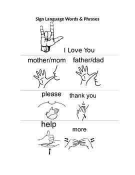 Sign Language Alphabet and Basic Words