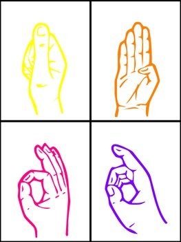 Sign Language Alphabet and Number Cards {Simple}
