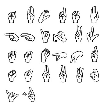 Sign Language Alphabet clip Art