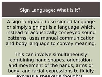 Sign Language Art