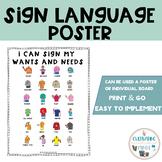 Sign Language Basic Communication Freebie