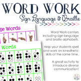 Sign Language & Braille Word Work