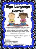 Sign Language Center - Language Arts Word Work