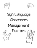 Sign Language Classroom Management Posters