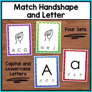 Sign Language Clothespin Task Cards: Letters and Numbers (6 sets)