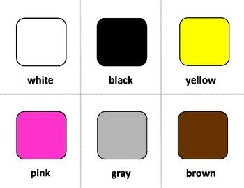 Color Sign Language (ASL) Cards