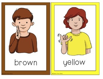 Sign Language Colors ASL Activities
