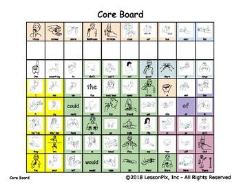 Sign Language Core Board (Color and black/white)