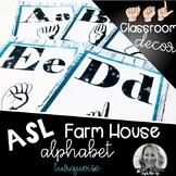 Sign Language Farmhouse Classroom Decor Alphabet turquoise