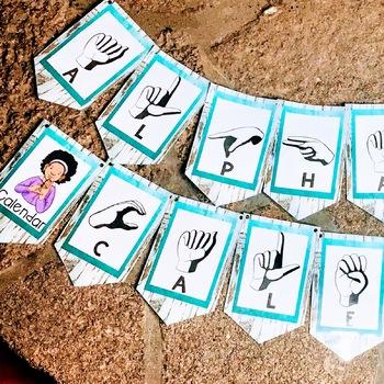 Sign Language Farmhouse Classroom Decor Banners Turquoise