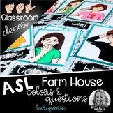 Sign Language Farmhouse Classroom Decor Colors and Questio