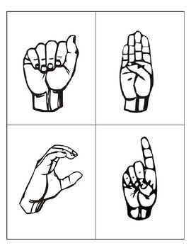 Sign Language Letter Flash Cards