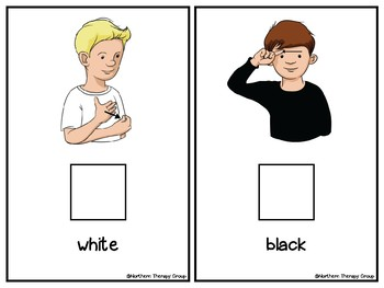Sign Language: My ASL Colors Interactive Book and Activities