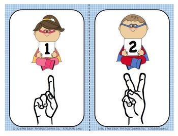 Sign Language Number Card Combo Set