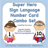 Sign Language Number Card Combo Set