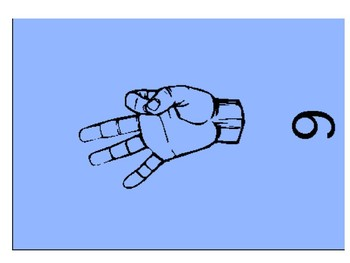 Sign Language Numbers Mini Posters