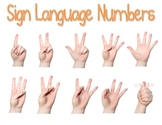 Sign Language Numbers Poster