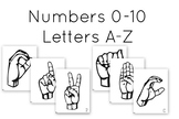 Sign Language Numbers and Alphabet Hand Sign Cards | ASL |