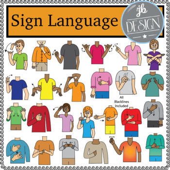 Sign Language Pack (JB Design Clip Art for Personal or Commercial Use)