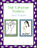 Sign Language Posters: Seat Signals