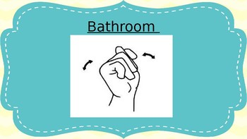 Sign Language Posters- Teal and Yellow
