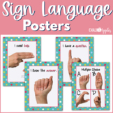 Sign Language Posters - Turquoise Dots Theme
