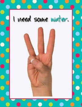 Sign Language Posters for Classroom Management