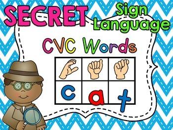 Sign Language Secret CVC Words