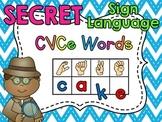 Sign Language Secret CVCe Words