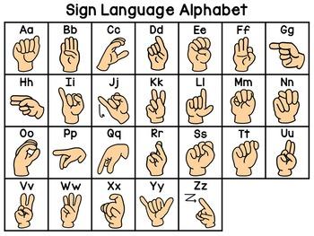 Sign Language Secret Sight Words