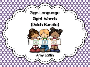 Sign Language Sight Words {Bundle}