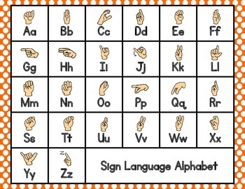 Sign Language Sight Words {First Grade}
