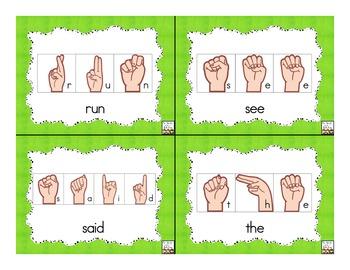 Sign Language Sight Words: Pre-Primer {FREE}