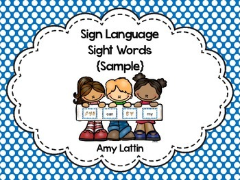 Sign Language Sight Words {Sample}