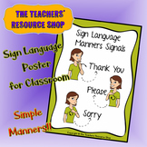 Sign Language Simple Manners Poster