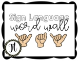 Sign Language Word Wall