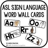 Sign Language Word Wall Cards