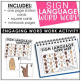 Sign Language Word Work